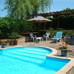 12 x 6 m fenced pool and sun deck