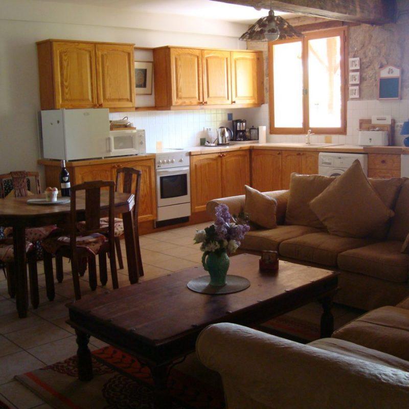 Drake Cottage, open plan living